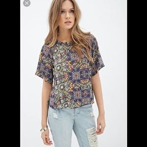 Forever 21 stained glass blouse.